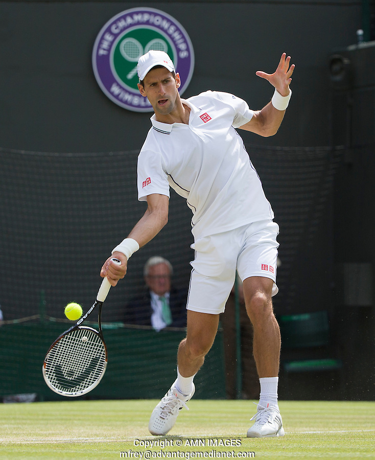 NOVAK DJOKOVIC  (SRB)<br /> <br /> The Championships Wimbledon 2014 - The All England Lawn Tennis Club -  London - UK -  ATP - ITF - WTA-2014  - Grand Slam - Great Britain -  2nd July 2014. <br /> <br /> &copy; AMN IMAGES