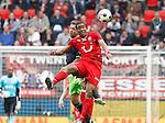 Nederland, Enschede, 29 april 2012.Eredivisie.Seizoen 2011-2012.FC Twente-Ajax.Leroy Fer (r.) van FC Twente en Theo Janssen (l.) van Ajax strijden om de bal
