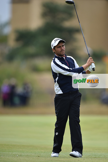 \Romain Langasque (FRA) (a)\  during the 3rd round on Sunday of the 144th Open Championship, St Andrews Old Course, St Andrews, Fife, Scotland. 19/07/2015.<br /> Picture: Golffile | Fran Caffrey<br /> <br /> <br /> All photo usage must carry mandatory copyright credit (&copy; Golffile | Fran Caffrey)