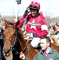 FIRST LIEUTENANT (Bryan Cooper) after The Betfred Bowl , Aintree Racecourse, Aintree, Merseyside, England. April 4, 2013. Photo by i-Images/DyD Fotografos