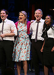 Matthew Morrison, Victoria Clark, Stephen Bogardus, Adrienne Warren during the Curtain Call for the Roundabout Theatre Company presents a One-Night Benefit Concert Reading of 'Damn Yankees' at the Stephen Sondheim Theatre on December 11, 2017 in New York City.