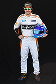 22nd March 2018, Melbourne Grand Prix Circuit, Melbourne, Australia; Melbourne Formula One Grand Prix, Arrivals and Press Conference; Fernando Alonso of Spain poses for a portrait