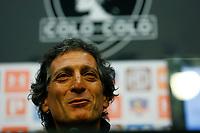 Futbol 2018 Presentacion Mario Salas en Colo Colo