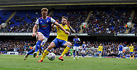 Ipswich Town's James Bree battles with Leeds United's Mateusz Klich<br /> <br /> Photographer Hannah Fountain/CameraSport<br /> <br /> The EFL Sky Bet Championship - Ipswich Town v Leeds United - Sunday 5th May 2019 - Portman Road - Ipswich<br /> <br /> World Copyright © 2019 CameraSport. All rights reserved. 43 Linden Ave. Countesthorpe. Leicester. England. LE8 5PG - Tel: +44 (0) 116 277 4147 - admin@camerasport.com - www.camerasport.com