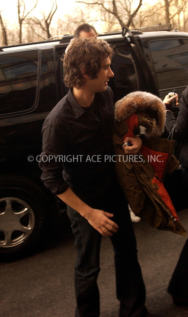 WWW.ACEPIXS.COM . . . . .  ....NEW YORK, FEBRUARY 9, 2005....Josh Groban outside the Ritz Carlton.....Please byline: Ian Wingfield - ACE PICTURES..... *** ***..Ace Pictures, Inc:  ..Philip Vaughan (646) 769-0430..e-mail: info@acepixs.com..web: http://www.acepixs.com