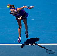 PETRA KVITOVA (CZE) against ANA IVANOVIC (SRB) in the fourth round of the Women's Singles. Petra Kvitova beat Ana Ivanovic  6-2 7-6..23/01/2012, 23rd January 2012, 23.01.2012 - Day 8..The Australian Open, Melbourne Park, Melbourne,Victoria, Australia.@AMN IMAGES, Frey, Advantage Media Network, 30, Cleveland Street, London, W1T 4JD .Tel - +44 208 947 0100..email - mfrey@advantagemedianet.com..www.amnimages.photoshelter.com.