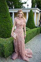 Princess Beatrice Elton John's White Tie and Tiara Ball wearing  Elie Saab