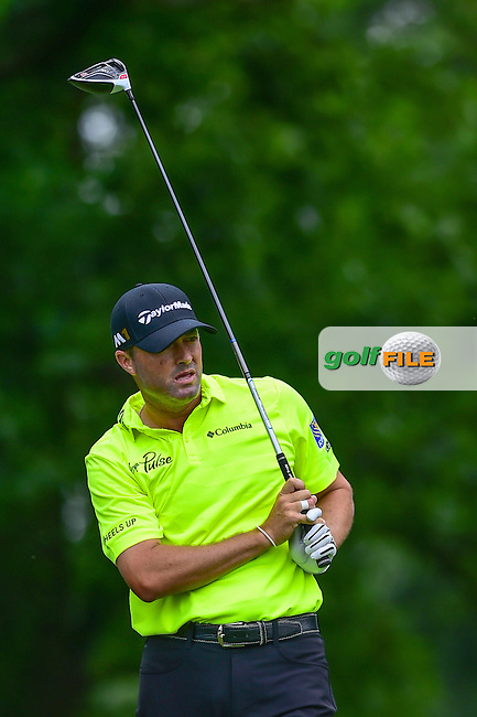 Ryan Palmer (USA) watches his tee shot on 4 during round 2 of the 2016 Quicken Loans National, Congressional Country Club, Bethesda, Maryland, USA. 6/24/2016.<br /> Picture: Golffile | Ken Murray<br /> <br /> <br /> All photo usage must carry mandatory copyright credit (&copy; Golffile | Ken Murray)