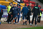 St Johnstone v Inverness Caley Thistle...15.10.11   SPL Week 11.Derek McInnes shakes hands with Maurice Malpas at full time.Picture by Graeme Hart..Copyright Perthshire Picture Agency.Tel: 01738 623350  Mobile: 07990 594431