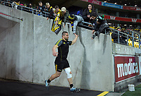Hurricanes' Dane Coles runs out for the Super Rugby quarterfinal between the Hurricanes and Bulls at Westpac Stadium in Wellington, New Zealand on Saturday, 22 June 2019. Photo: Dave Lintott / lintottphoto.co.nz