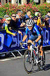 Elisa Longo Borghini (ITA) chases in 5th place on the first circuit of Harrogate during the Women Elite Road Race of the UCI World Championships 2019 running 149.4km from Bradford to Harrogate, England. 28th September 2019.<br /> Picture: Andy Brady | Cyclefile<br /> <br /> All photos usage must carry mandatory copyright credit (© Cyclefile | Andy Brady)