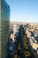 Torre Mayor, Reforma. Aerial photos of Mexico City, Mexico