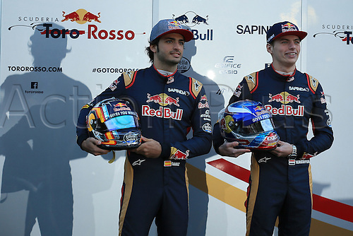 01.03.2016. Barcelona, Spain.  Formula 1 winter car testing at Circuit de Barcelona Catalunya Test 2 Day 1.  Scuderia Toro Rosso launch new livery with Max Verstappen and Carlos Sainz