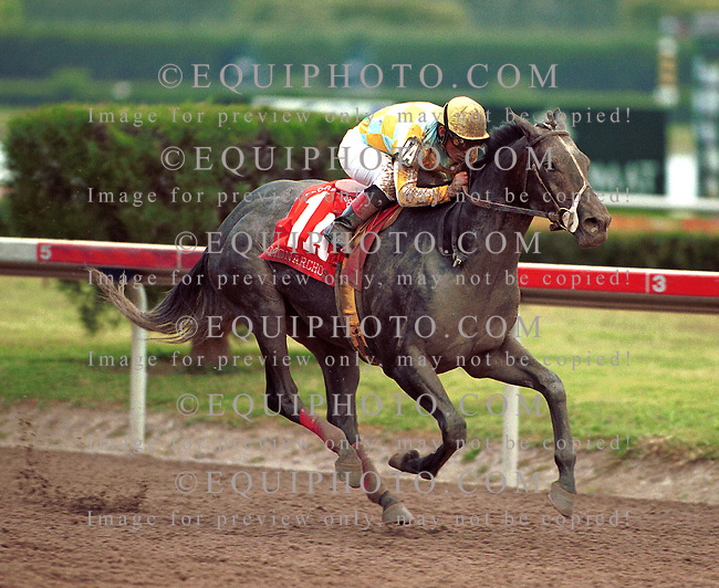 Monarchos #1A with Jorge Chavez riding won the $1,000,000 Grade 1 Florida Derby at Gulfstream Park.  Photo By Bill Denver/EQUI-PHOTO. 3/10/01