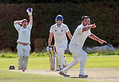 CS Challenge Cup Final, at Uddingston CC - Irvine claim a wicket lbw - picture by Donald MacLeod - 13.08.2017 - 07702 319 738 - clanmacleod@btinternet.com - www.donald-macleod.com