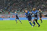 13.01.2018,  Red Bull Arena, Leipzig, GER, 1.FBL, 18.Spieltag, RB Leipzig vs FC Schalke 04, im Bild Torjubel/Jubel nach dem Treffer/Tor von Torschuetze  Naldo (FC Schalke 04)  mit dem Tor/ Ausgleich / Ausgleichstreffer und Marko Pjaca, (FC Schalke 04)  li <br /> <br /> <br /> <br /> <br /> Foto &copy; nordphoto / Schmalfuss