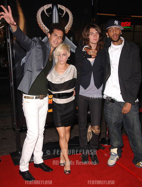 """Pop group COBRA STARSHIP at the Los Angeles premiere of """"Snakes on a Plane"""" at the Chinese Theatre, Hollywood..August 17, 2006  Los Angeles, CA.© 2006 Paul Smith / Featureflash"""