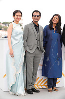 Rasika Dugal, Nawazuddin Siddiqui and Nandita Das attend the photocall for 'MANTO' during the 71st annual Cannes Film Festival at Palais des Festivals on May 14, 2018 in Cannes, France.<br /> CAP/GOL<br /> &copy;GOL/Capital Pictures
