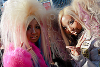 A couple of girls dressed in the Manba style in Shibuya, Tokyo, Japan. Sunday December 9th 2012