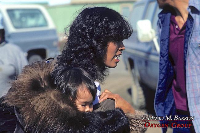 Inupiat Woman & Child