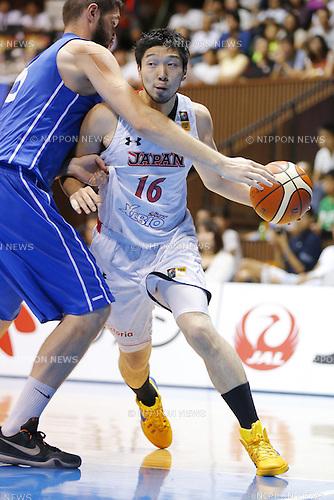 Keijuro Matsui (JPN), AUGUST 15, 2015 - Basketball : International friendly match between Japan 65-54 Czech Republic at 2nd Yoyogi Gymnasium in Tokyo, Japan. (Photo by Yusuke Nakanishi/AFLO SPORT)