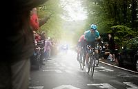 eventual winner Jakob FUGLSANG (DEN/Astana) up the last (categorised) climb of the day; the Côte de la Roche-aux-Faucons<br /> <br /> 105th Liège-Bastogne-Liège 2019 (1.UWT)<br /> One day race from Liège to Liège (256km)<br /> <br /> ©kramon