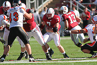 18 November 2006: Toby Gerhart during Stanford's 30-7 loss to Oregon State at Stanford Stadium in Stanford, CA.