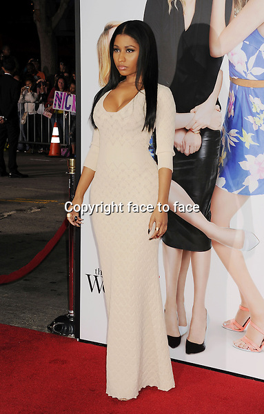 WESTWOOD, CA- APRIL 21: Actress/singer Nicki Minaj arrives at the Los Angeles premiere of 'The Other Woman' at Regency Village Theatre on April 21, 2014 in Westwood, California.<br /> Credit: Mayer/face to face<br /> - No Rights for USA, Canada and France -