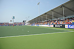 The Hague, Netherlands, June 02: View of the stands at GreenFields Stadium during the second half during the field hockey group match (Group A) between Korea and New Zealand´s Black Sticks on June 2, 2014 during the World Cup 2014 at GreenFields Stadium in The Hague, Netherlands. Final score 1:0 (1:0) (Photo by Dirk Markgraf / www.265-images.com) *** Local caption ***