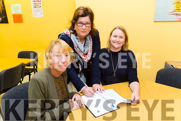 Kerry ETB  Launch a new initiative for parents of disabled children. Pictured l-r Alice Griffin, DESSA, Siobhan Shanahan, AEO kerry education training board, Jackie Brown, Chairperson of DESSA