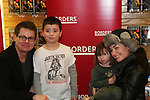 Trent Dawson & Ewa da Cruz  - ATWT pose with fans and sign The Man from Oakdale - a Novel by Henry Coleman with Alina Adams on January 31, 2009 at Borders in Westbury, New York. (Photo by Sue Coflin)
