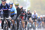 Riders including Matteo Trentin (ITA) tackle the 9 laps of the Harrogate circuit during the Men Elite Road Race of the UCI World Championships 2019 running 261km from Leeds to Harrogate, England. 29th September 2019.<br /> Picture: Eoin Clarke | Cyclefile<br /> <br /> All photos usage must carry mandatory copyright credit (© Cyclefile | Eoin Clarke)