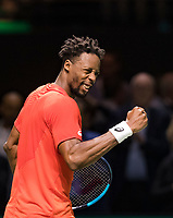 Rotterdam, The Netherlands, 16 Februari 2019, ABNAMRO World Tennis Tournament, Ahoy, Semis, Gael Monfils (FRA) winner,<br /> Photo: www.tennisimages.com/Henk Koster