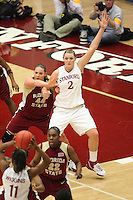 19 March 2007: Jayne Appel during Stanford's 68-61 second round loss to Florida State in the NCAA women's basketball tournament at Maples Pavilion in Stanford, CA.