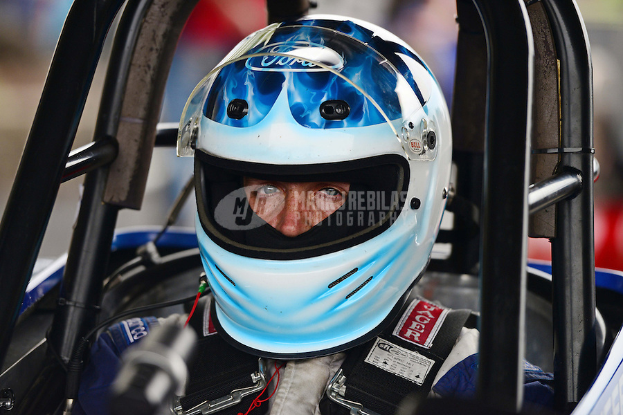Sept. 30, 2012; Madison, IL, USA: NHRA comp driver Clint Neff during the Midwest Nationals at Gateway Motorsports Park. Mandatory Credit: Mark J. Rebilas-