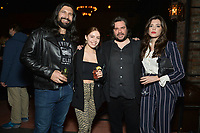 """NEW YORK - MARCH 19: (L-R) Kayvan Novak,  guest, Matt Berry and Iraina MacCormack attend the party at the Bowery Hotel Terrace following the premiere for FX Networks """"What We Do In The Shadows"""" on March 19, 2019 in New York City. (Photo by Anthony Behar/FX/PictureGroup)"""