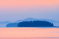 Dawn on Pacific Ocean  at Fulford Harbour, British Columbia, Canada