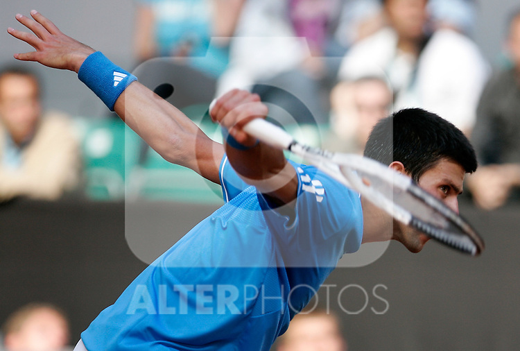 Serbia's Novak Djokovic during his Madrid Open quarter final match. May 15, 2009. (ALTERPHOTOS/Alvaro Hernandez)