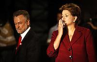 SAO PAULO, 18 DE MAIO DE 2012. VISITA DA PRESIDENTA DILMA A EXPOSIÇAO GUERRA E PAZ DE PORTINARI. A Presidenta Dilma Rousseff durante visita a exposição guerra e paz de Candido Portinari no Memorial da America Latina na tarde desta sexta feira.  FOTO: ADRIANA SPACA - BRAZIL PHOTO PRESS