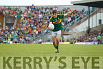 Donal O'Sullivan Kerry in action against  Clare in the Munster Minor Football Final at Fitzgerald Stadium on Sunday.
