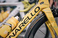 yet another personalised yellow bike (personnally for Chris Froome (GBR/SKY) at the last stage start of the 104th Tour de France 2017 in Montgeron<br /> <br /> Stage 21 - Montgeron › Paris (105km)