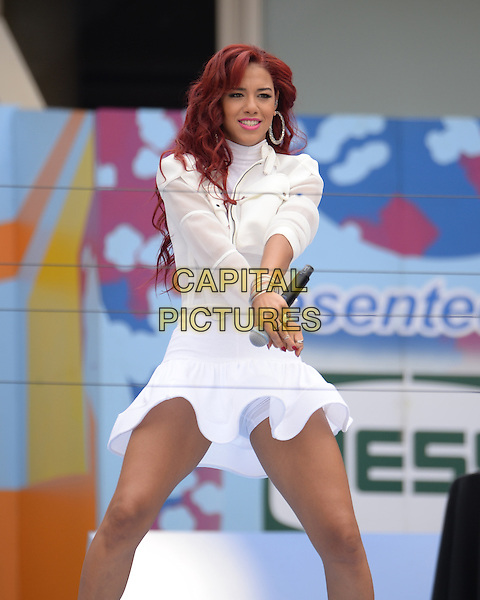 FLUSHING MEADOWS, NY - AUGUST 29: Natalie La Rose performs during the 20th Annual Arthur Ashe Kids' Day at the 2015 US Open held at the USTA Billie Jean King National Tennis Center on August 29, 2015 in Flushing Meadows Queens. <br /> CAP/MPI/MPI04<br /> &copy;MPI04/MPI/Capital Pictures