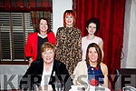 5 ladies enjoying a night out in Cassidys Restraurant on Friday night last. Seated l-r, Diana Kennedy (Ardfert) and Aisling Enright (Lixnaw). Standing l-r, Breda Moriarty (Tarbert), Jean Thomas (Listowel) and Deirdre Harnett (Listowel).