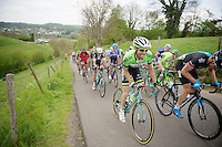 local rider Laurens Ten Dam (NLD/Belkin) up the &lsquo;steepest climb&rsquo; in Holland: Keutenberg (max 22%)<br /> <br /> Amstel Gold Race 2014