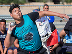 North Valley's Paul Braun competes in the boys shot put during the Reed Sparks Rotary Invitational track and field event at Reed High School in Sparks, Saturday, April 1, 2017.