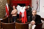 Casa di reclusione di Volterra 14 gennaio 2009 - Compagnia della fortezza - nel teatrino &quot;Renzo Graziani&quot; si prepara Pinocchio,<br />  in primo piano Armando Punzo, regista<br /> a torso nudo Aniello Arena, attore