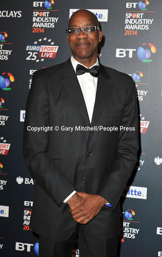 Edwin Moses attends the BT Sport Industry Awards at Battersea Evolution on May 8, 2014 in London, England