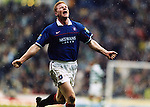 JORG ALBERTZ CELEBRATES SCORING FOR RANGERS AGAINST OLD FIRM RIVALS CELTIC, ROB CASEY PHOTOGRAPHY