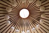 USA, California, Big Sur, Esalen, the ceiling inside the Porter's Yurt, the Esalen Institute