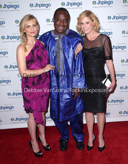 Sarah Michelle Gellar,Dr. Alain Damiba and Julie Bowen attends Jhpiego Laughter is the Best Medicine Event held at The Beverly Wilshire in Beverly Hills, California on May 19,2015                                                                               © 2015 Hollywood Press Agency